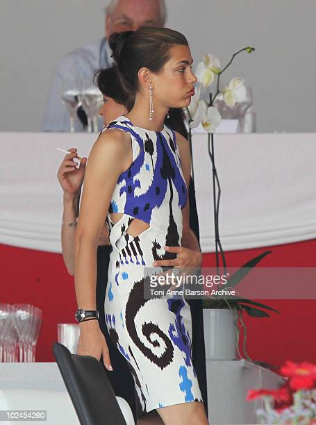 Charlotte Casiraghi attends the 15th Monte Carlo International Jumping on June 26 2010 in MonteCarlo Monaco