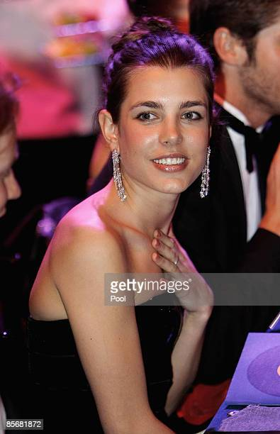 Charlotte Casiraghi attends the 2009 Monte Carlo Rock' N Rose Ball held at The Sporting Monte Carlo on March 28 2009 in Monte Carlo Monaco
