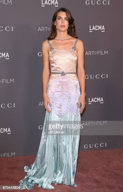 Charlotte Casiraghi attends the 2017 LACMA Art Film Gala Honoring Mark Bradford and George Lucas presented by Gucci at LACMA on November 4 2017 in...
