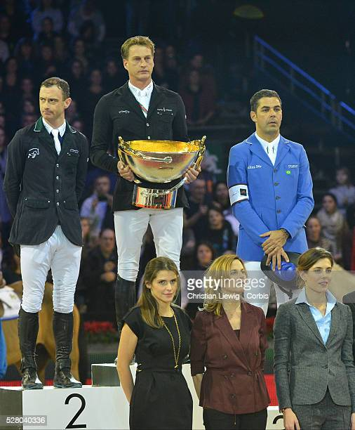 Charlotte Casiraghi attends the Award Ceremony of the Gucci Grand Prix at the Gucci Masters International Jumping Competition in Villepinte North of...