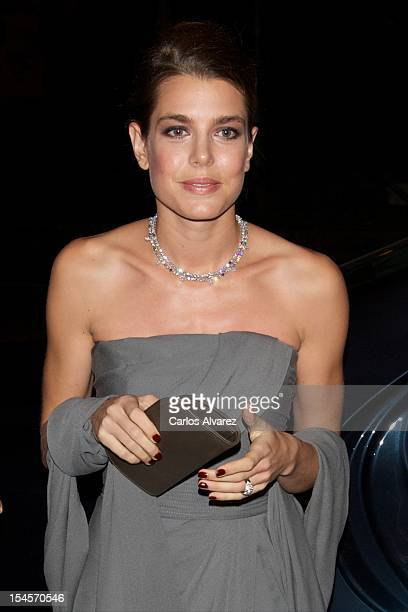 Charlotte Casiraghi attends the 'Cartier Exhibition' Gala presentation at the Museum Thyssen Bornemisza on October 22 2012 in Madrid Spain