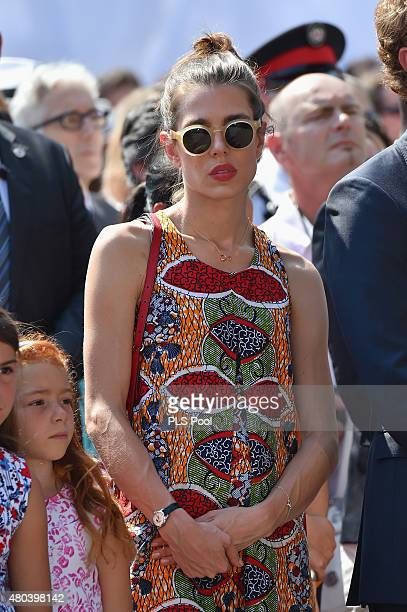 Charlotte Casiraghi attends the First Day of the 10th Anniversary on the Throne Celebrations on July 11 2015 in Monaco Monaco
