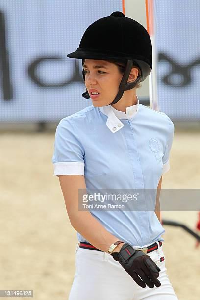 Charlotte Casiraghi attends the Global Champion Tour 2011 on June 23, 2011 in Monte Carlo, Monaco.