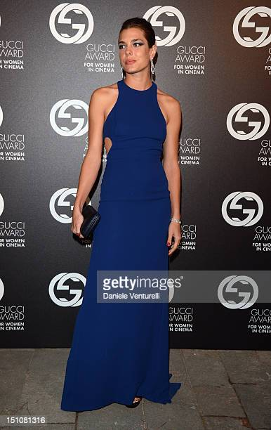 Charlotte Casiraghi attends the Gucci Award for Women in Cinema at The 69th Venice International Film Festival at Hotel Cipriani on August 31 2012 in...