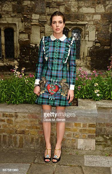 Charlotte Casiraghi attends the Gucci Cruise 2017 fashion show at the Cloisters of Westminster Abbey on June 2 2016 in London England