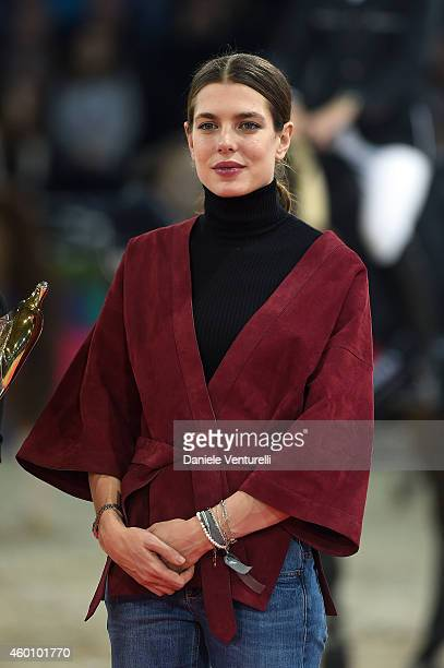 Charlotte Casiraghi attends the Gucci Paris Masters 2014 at Paris Nord Villepinte on December 7 2014 in Paris France