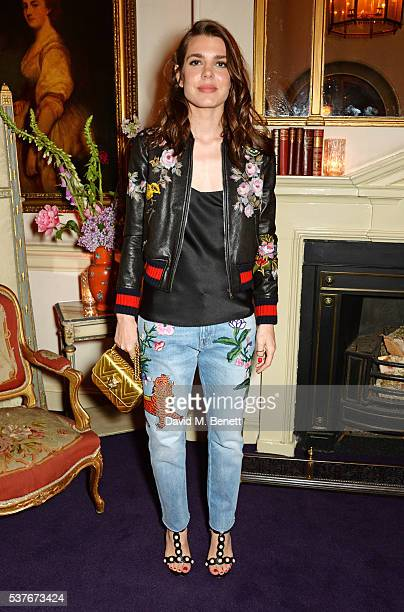Charlotte Casiraghi attends the Gucci party at 106 Piccadilly in celebration of the Gucci Cruise 2017 fashion show on June 2 2016 in London England