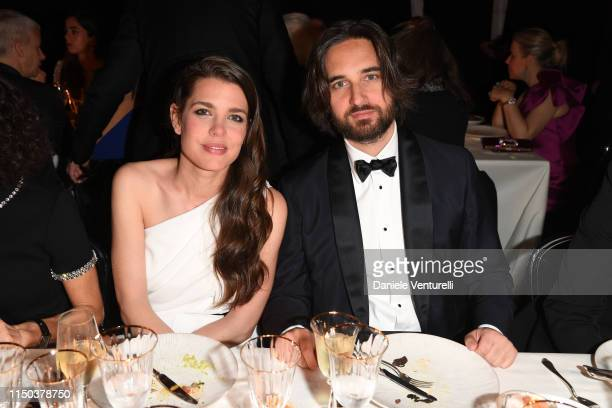 Charlotte Casiraghi attends the Kering and Cannes Film Festival Official Dinner at Place de la Castre on May 19 2019 in Cannes France