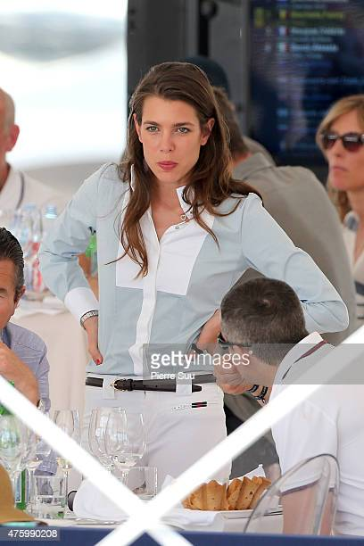 Charlotte Casiraghi attends the Longines Athina Onassis horse Show on June 5 2015 in SaintTropez France