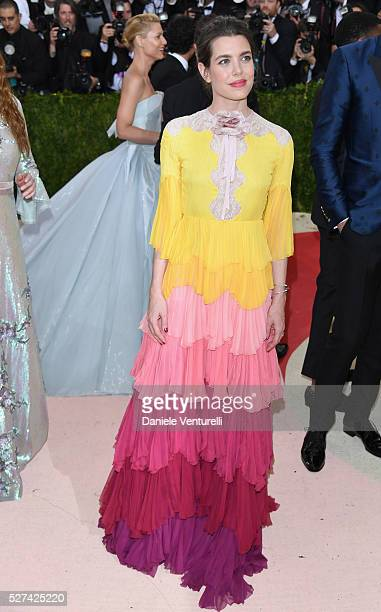 Charlotte Casiraghi attends the Manus x Machina Fashion In An Age Of Technology Costume Institute Gala at Metropolitan Museum of Art on May 2 2016 in...