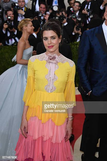 Charlotte Casiraghi attends the 'Manus x Machina: Fashion In An Age Of Technology' Costume Institute Gala at the Metropolitan Museum on May 02, 2016...