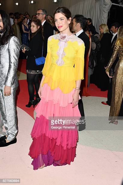 Charlotte Casiraghi attends the 'Manus x Machina: Fashion in an Age of Technology' Costume Institute Gala at the Metropolitan Museum of Art on May 2,...