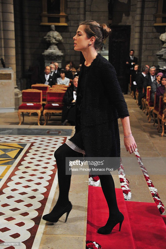 Charlotte Casiraghi attends the Mass on Monaco National Day at Cathedrale Notre-Dame Immaculee on November 19, 2010 in Monaco, Monaco.