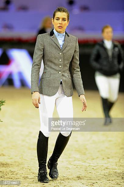 Charlotte Casiraghi attends the Masters Grand Slam competition during the Gucci Paris Masters 2012 at Paris Nord Villepinte on November 30 2012 in...