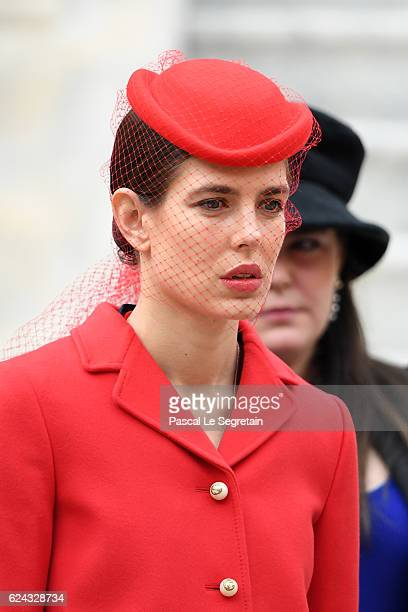 Charlotte Casiraghi attends the Monaco National Day Celebrations in the Monaco Palace Courtyard on November 19 2016 in Monaco Monaco