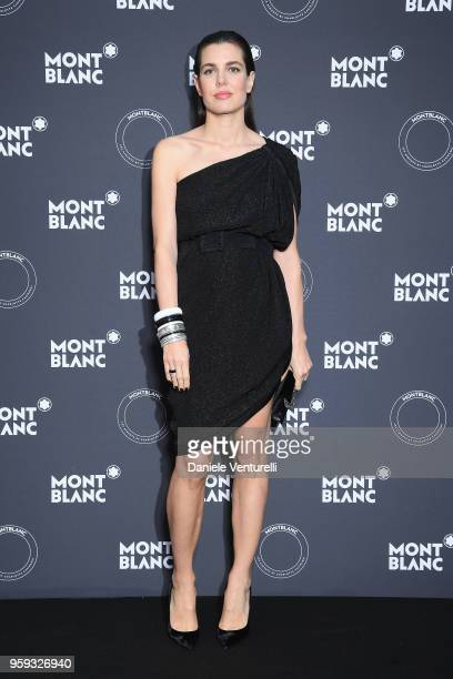 Charlotte Casiraghi attends the Montblanc dinner hosted by Charlotte Casiraghi for the collection launch 'Les Aimants at Villa La Favorite on May 16...