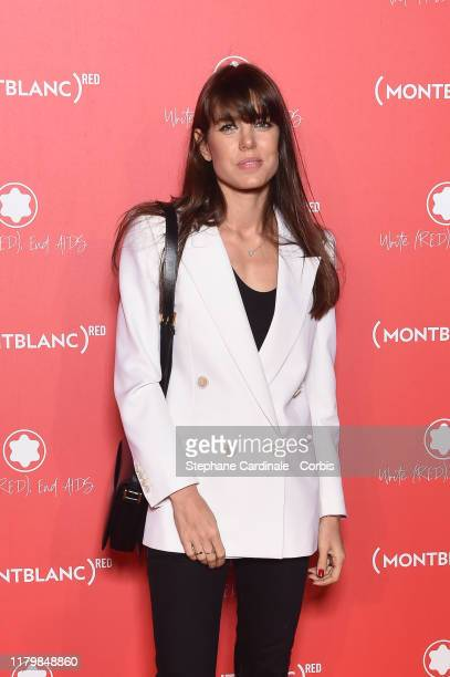 Charlotte Casiraghi attends the Montblanc Launch Collection To Benefit RED on October 08 2019 in Paris France