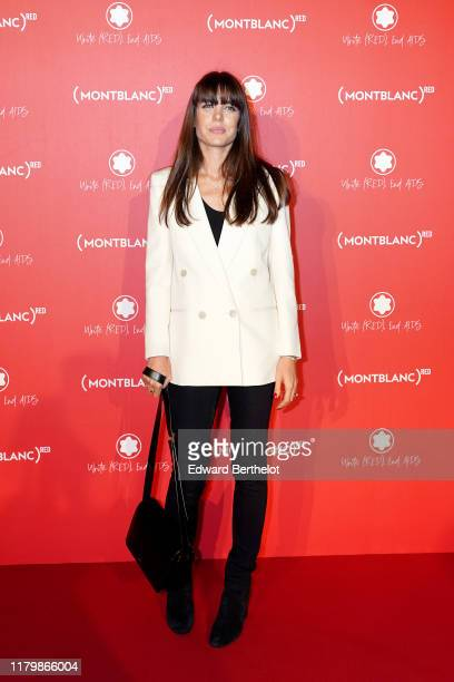 Charlotte Casiraghi attends the Montblanc: Launch Dinner and Party at Monsieur Bleu on October 08, 2019 in Paris, France.