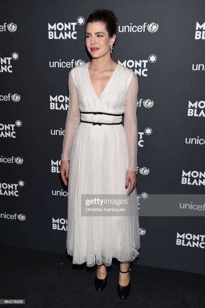 Charlotte Casiraghi attends the Montblanc & UNICEF Gala Dinner at the New York Public Library on April 3, 2017 in New York City.