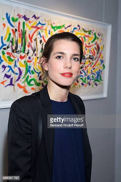 Charlotte Casiraghi attends the 'Paintings Poems from Tahar Ben Jelloun Furniture Scriptures from CSaccomanno ODayot' Press Preview at Galerie du...