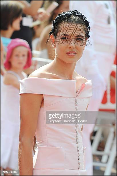 Charlotte Casiraghi attends the religious ceremony of the Royal Wedding of Prince Albert II of Monaco to Charlene Wittstock at the Prince's Palace,...