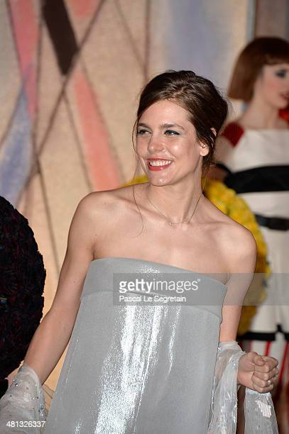 Charlotte Casiraghi attends the Rose Ball 2014 in aid of the Princess Grace Foundation at Sporting MonteCarlo on March 29 2014 in MonteCarlo Monaco