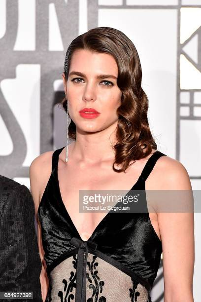 Charlotte Casiraghi attends the Rose Ball 2017 To Benefit The Princess Grace Foundation at Sporting Monte-Carlo on March 18, 2017 in Monte-Carlo,...