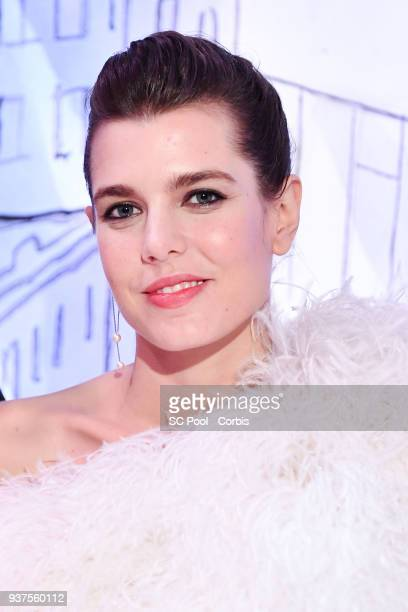 Charlotte Casiraghi attends the Rose Ball 2018 To Benefit The Princess Grace Foundation at Sporting MonteCarlo on March 24 2018 in MonteCarlo Monaco