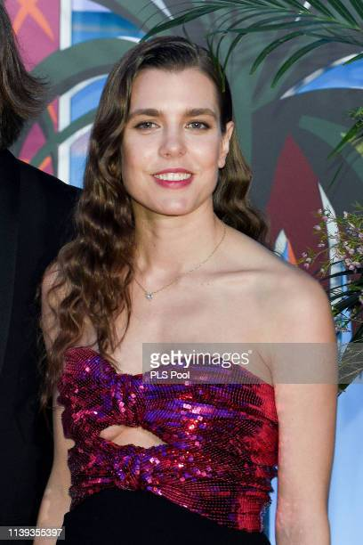 Charlotte Casiraghi attends the Rose Ball 2019 to benefit the Princess Grace Foundation on March 30 2019 in Monaco Monaco
