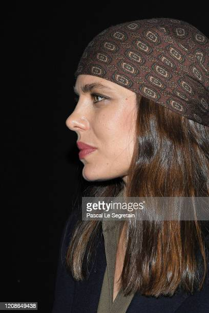 Charlotte Casiraghi attends the Saint Laurent show as part of the Paris Fashion Week Womenswear Fall/Winter 2020/2021 on February 25, 2020 in Paris,...