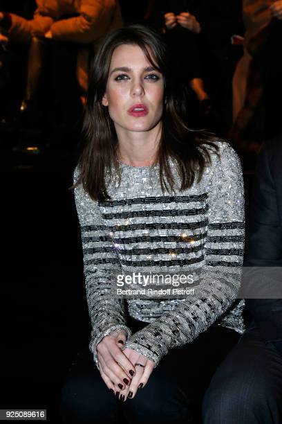 Charlotte Casiraghi attends the Saint Laurent show as part of the Paris Fashion Week Womenswear Fall/Winter 2018/2019 on February 27 2018 in Paris...