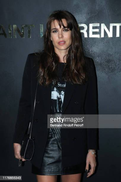 Charlotte Casiraghi attends the Saint Laurent Womenswear Spring/Summer 2020 show as part of Paris Fashion Week on September 24, 2019 in Paris, France.