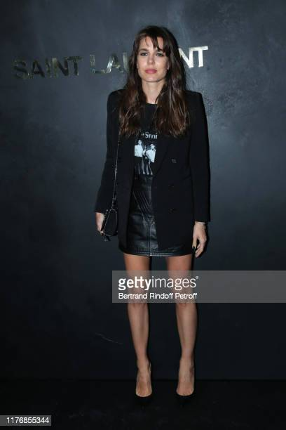 Charlotte Casiraghi attends the Saint Laurent Womenswear Spring/Summer 2020 show as part of Paris Fashion Week on September 24 2019 in Paris France
