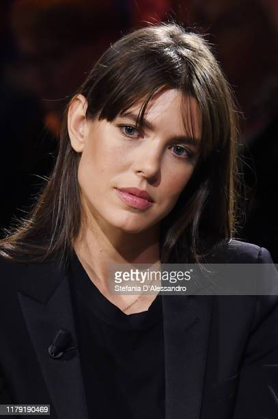 Charlotte Casiraghi attends the tv show Le Parole della Settimana on October 06 2019 in Milan Italy Photo by Stefania D'Alessandro/Getty Images