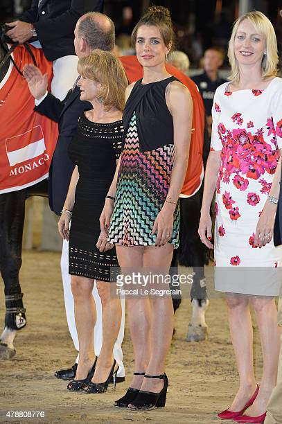 Charlotte Casiraghi attends the winners ceremony of the Monaco 2015 CSI5* 160m during the Longines Global Champions Tour of Monaco on June 27 2015 in...