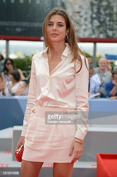 Charlotte Casiraghi attends World Restoration Premiere Of The Mattei Affair at The 69th Venice International Film Festival at the Palazzo del Cinema...