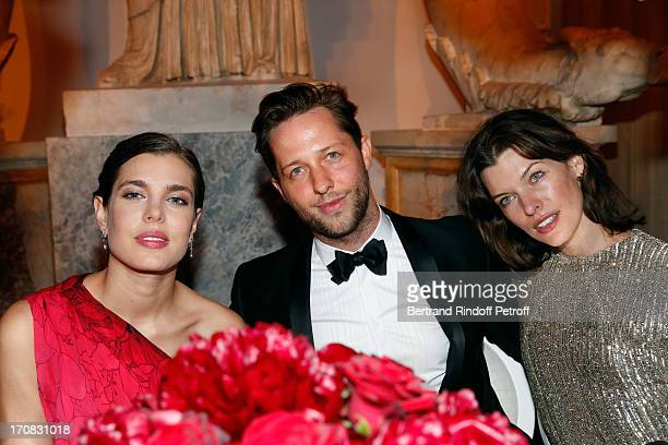 Charlotte Casiraghi, Dereck Blasberg and Milla Jovovicht attend 'Liaisons Au Louvre III' Charity Gala Dinner Hosted by American International Friends...