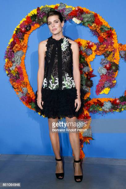 Charlotte Casiraghi dressed in Giambattista Valli attends the Opening Season Gala Ballet of Opera National de Paris Held at Opera Garnier on...