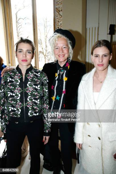 Charlotte Casiraghi Ellen von Unwerth and Juliette Dol Maillot attend the Giambattista Valli show as part of the Paris Fashion Week Womenswear...