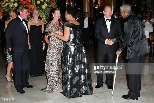 Charlotte Casiraghi Ernst August Prince of Hanover Charlene Wittstock Princess Caroline of Hanover Graca Machel Prince Albert II of Monaco and Nelson...