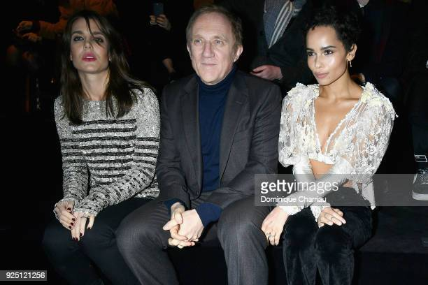 Charlotte Casiraghi FrancoisHenri Pinault and Zoe Kravitz attend the Saint Laurent show as part of the Paris Fashion Week Womenswear Fall/Winter...