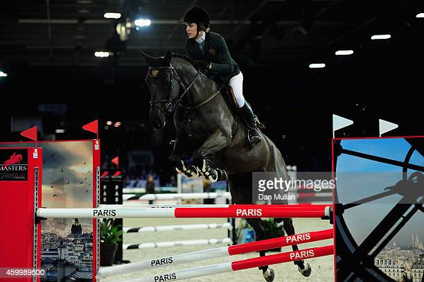 Charlotte Casiraghi from France rides Ramesexy Z at he Planete Bain Prize as part of the Gucci Paris Masters 2014 on December 5 2014 in Villepinte...