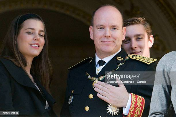 Charlotte Casiraghi HSH Prince Albert II of Monaco and Pierre Casiraghi attend the Army Parade as part of Monaco's National Day celebrations in Monte...