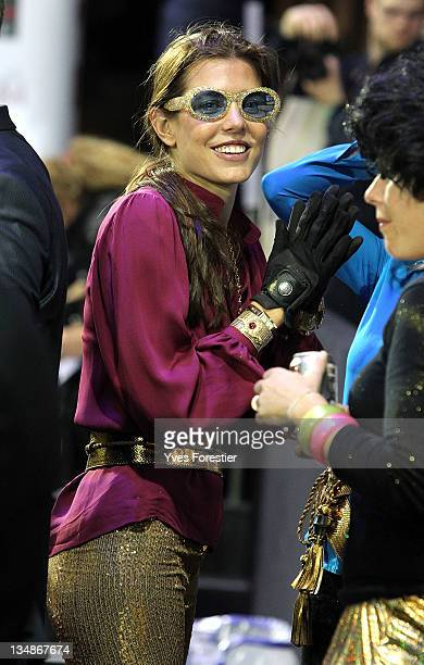 Charlotte Casiraghi in fancy dress attends the International Gucci Masters competition on December 2 2011 in Villepinte France