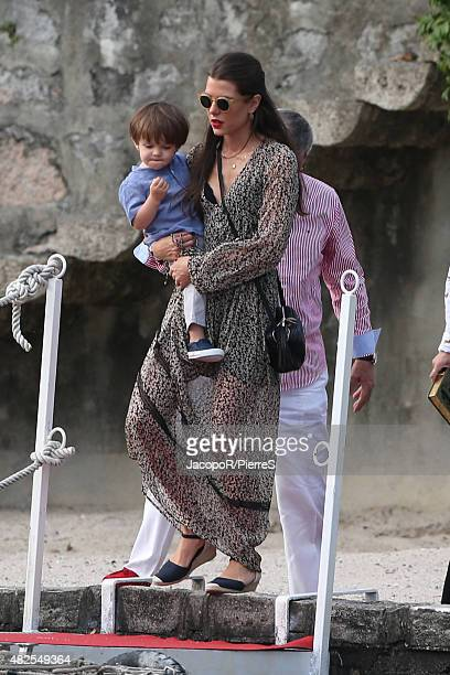 Charlotte Casiraghi is seen on July 31 2015 in Verbania Italy