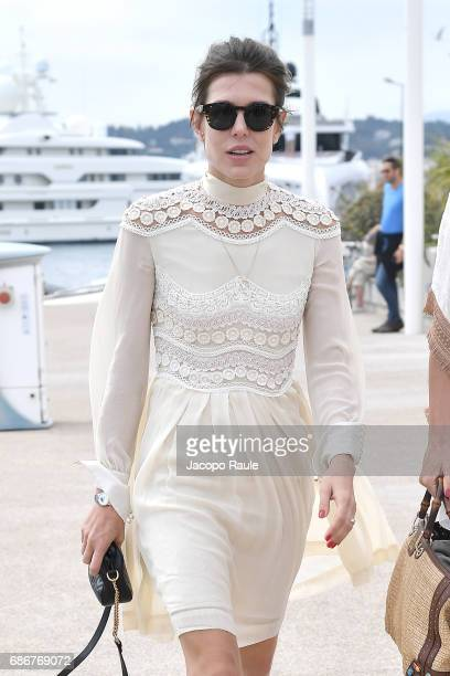 Charlotte Casiraghi is spotted during the 70th annual Cannes Film Festival at on May 22 2017 in Cannes France