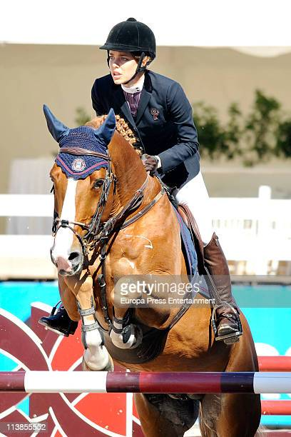 Charlotte Casiraghi jumps during the Global Champions Tour 2011 on May 8 2011 in Valencia Spain