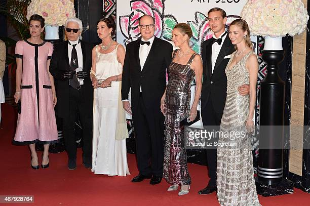 Charlotte Casiraghi Karl Lagerfeld Princess Caroline of Hanover Prince Albert II of Monaco Paola Marzotto Pierre Casiraghi and Beatrice Borromeo...