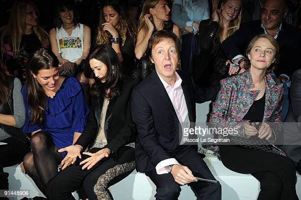 Charlotte Casiraghi Nancy Shevell Paul McCartney and Charlotte Rampling attend the Stella McCartney Pret a Porter show as part of the Paris...