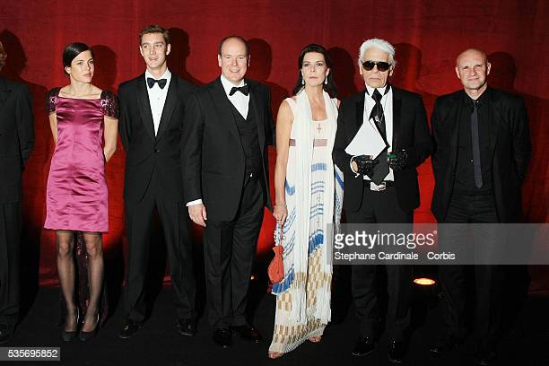 Charlotte Casiraghi Pierre Casiraghi HSH Prince Albert II of Monaco HRH Princess Caroline of Hanover Karl Lagerfeld and Jean Christophe Mailllot...